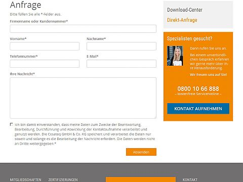 Service Anfrage